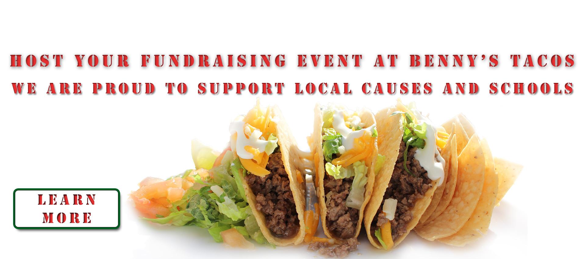fundraising at Benny's Tacos